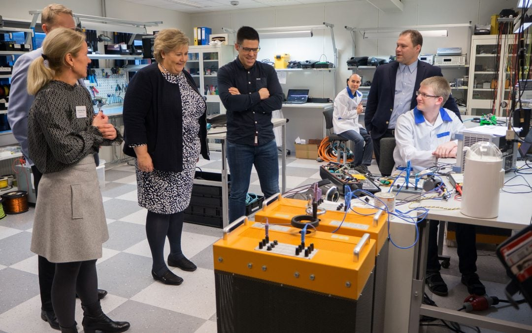 Norwegian Prime Minister Erna Solberg visited ZAPTEC