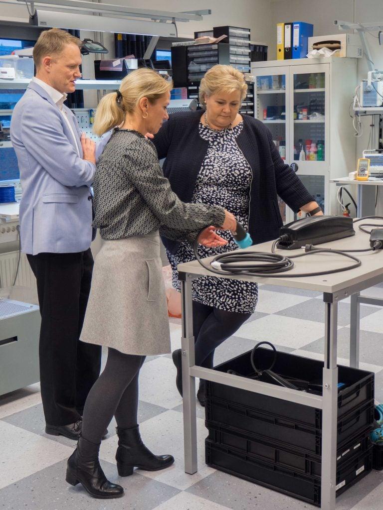 Erna Solberg, Zaptec, Christine Sagen Helgø