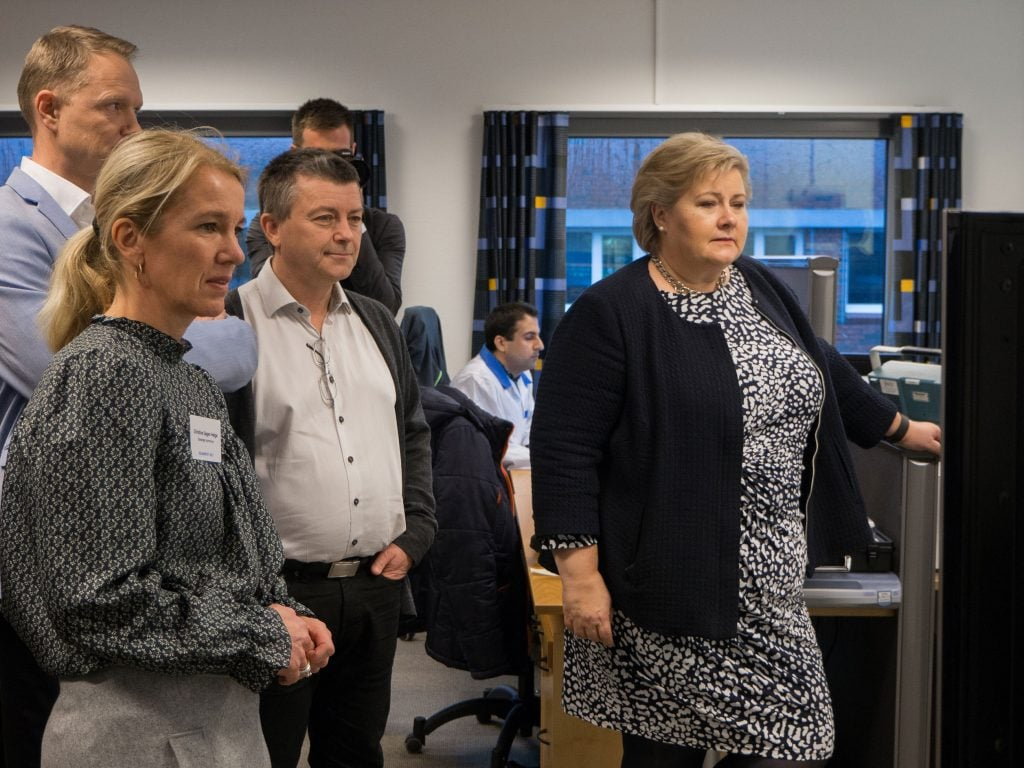 Erna Solberg, Zaptec, Christine Sagen Helgø,