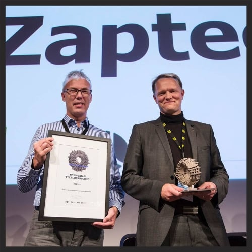 ZAPTEC vinner Norwegian Tech Award 2015