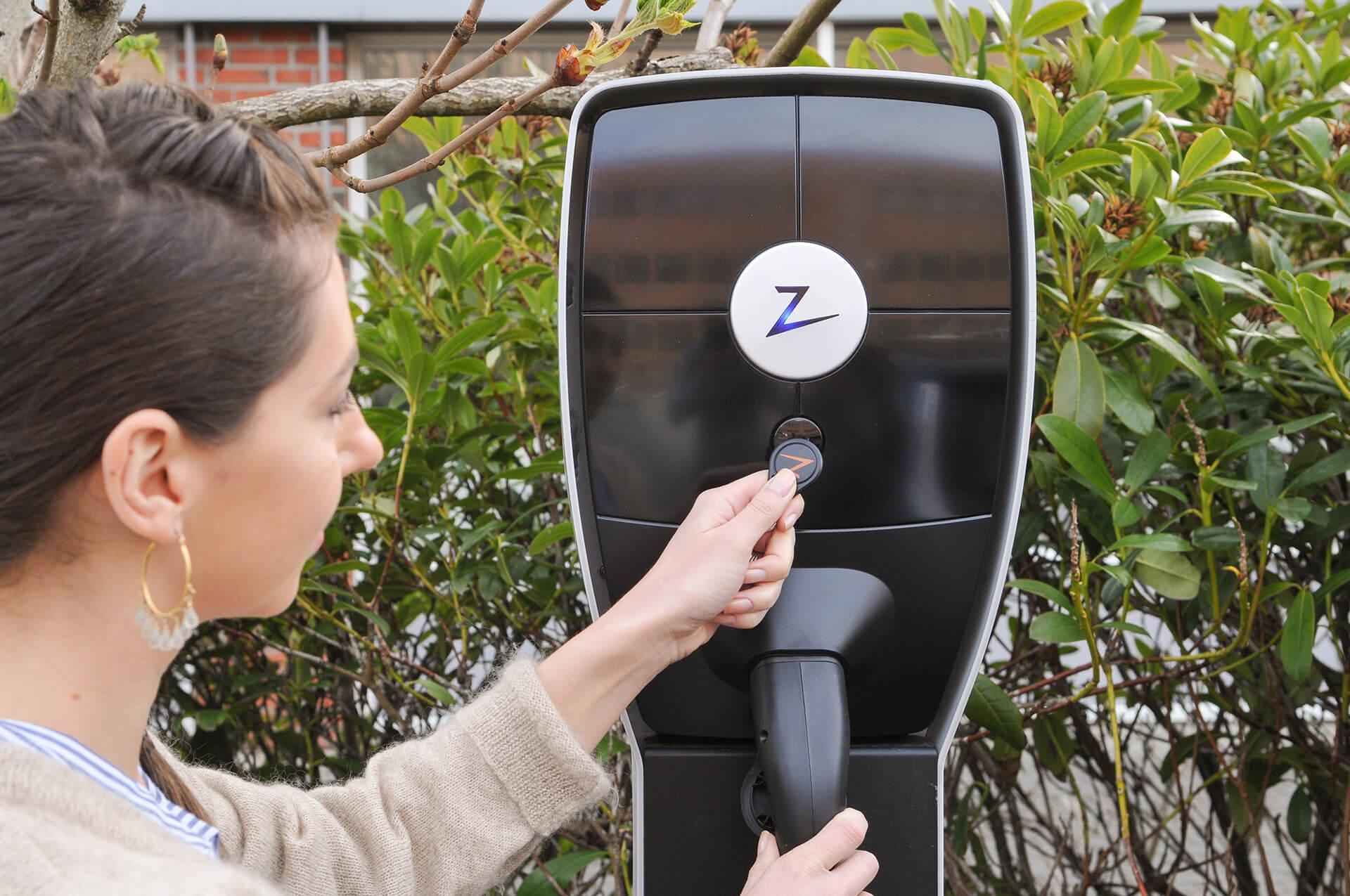 Ev charging, elbillading, ZapCharger Pro, RFID brikke