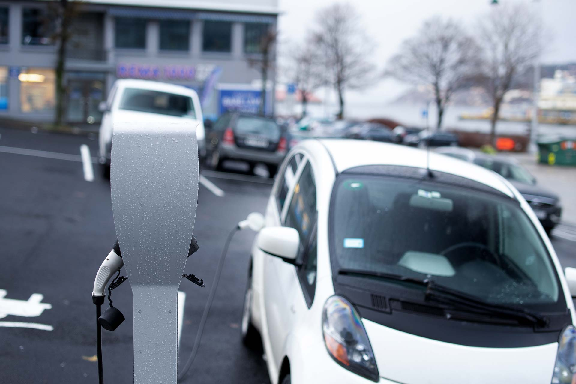 Elbillading i Bergen kommune, offentlig parkeringsplass, ZAPTEC, bilkraft app