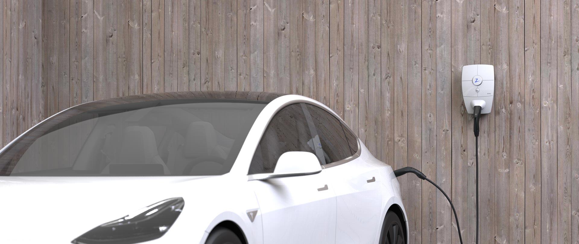 ZAPTEC HOME med Tesla model 3, elbillading