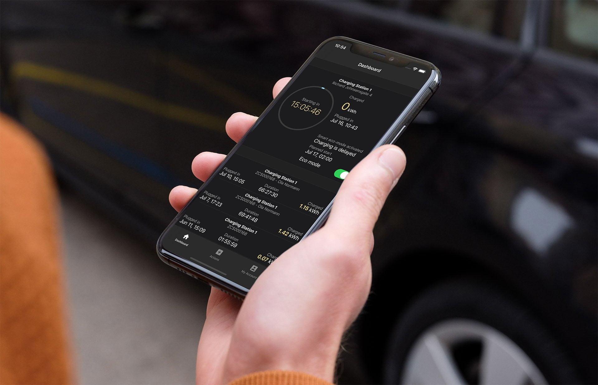 ZAPTEC mobilapp for elbillading