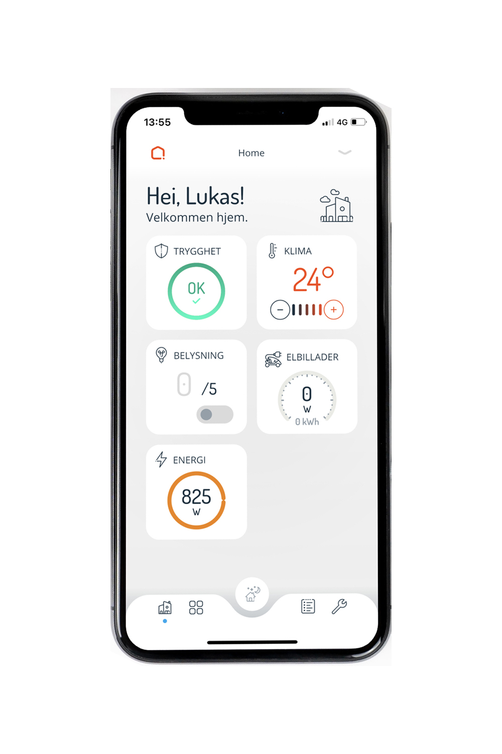 Futurehome app integreres med Zaptec